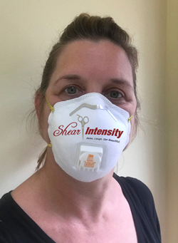 kathy with mask on